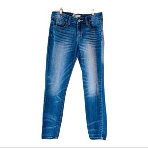 Cello-Blue Medium wash skinny jeans